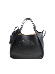 "Stella McCartney - ""Logo"" black shoulder bag"