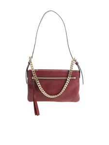 Red Valentino - Wine red bag with golden chain