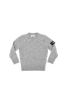 Stone Island Junior - Gray pullover with logo detail