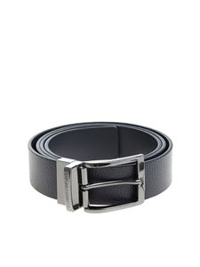 Emporio Armani - Reversible blue belt
