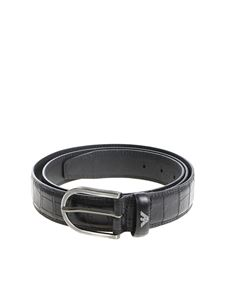Emporio Armani - Belt with black buckle