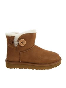 "UGG Australia - ""Mini Bailey Button II""tan color ankle boots"