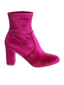 "Steve Madden - ""Avenue"" fuchsia ankle boots with zip"