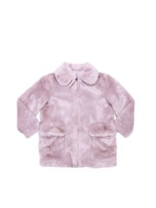 "Stella McCartney Kids - ""Carolyn"" pink eco-fur jacket"