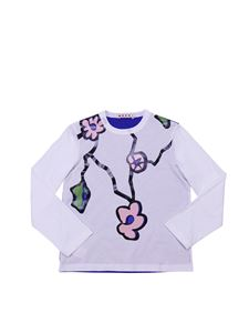 Marni - Crewneck t-shirt with blue back