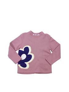 Marni - Pink sweatshirt with flower print