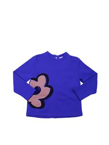 Marni - Blue sweatshirt with flower print