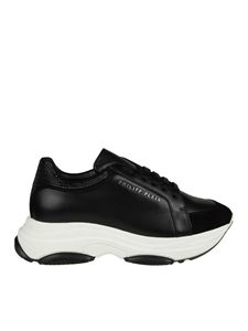 "Philipp Plein - ""Runner Crystal"" black sneakers"