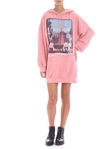 "Pinko Uniqueness - ""Spilla"" pink hooded dress"