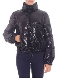 "Pinko Uniqueness - ""Saponetta"" black sequined down jacket"
