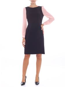 Emporio Armani - Black dress with pink sleeves