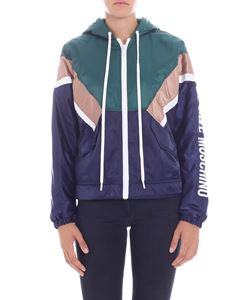 Love Moschino - Blue and green colorblock jacket