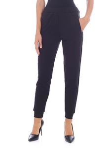 Parosh - Black trousers with velvet details