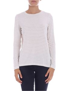 Majestic Filatures - White and beige striped T-shirt