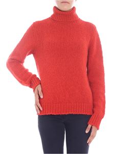 Majestic Filatures - Red wool turtleneck