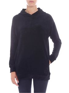 Majestic Filatures - Black velvet sweatshirt