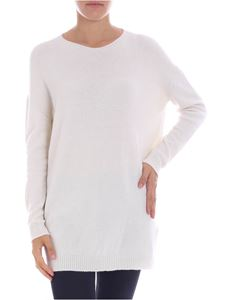 Majestic Filatures - Cream-colored cashmere maxi sweater