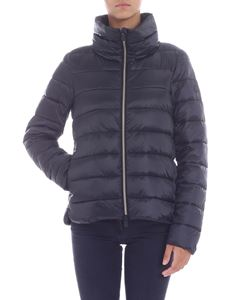 Save the duck - Black quilted jacket with logo