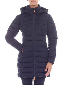 Save the duck - Dark blue hooded down jacket