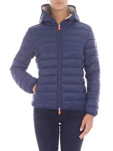 Save the duck - Dark blue quilted down jacket