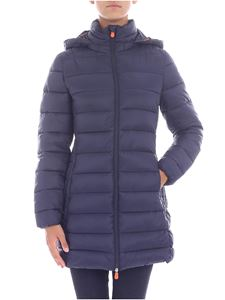 Save the duck - Blue hooded down jacket