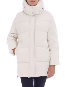 Woolrich - Ice white hooded down jacket