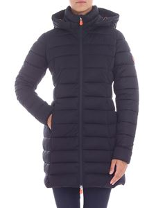 Save the duck - Black hooded down jacket