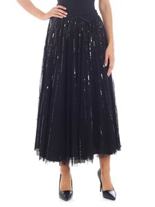Parosh - Black tulle skirt with sequins