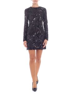 Parosh - Black mini dress with sequins