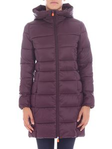 Save the duck - Burgundy quilted long jacket