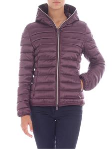 Save the duck - Purple down jacket with zip