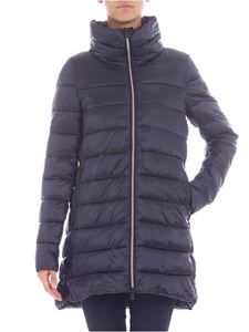 Save the duck - Black quilted down jacket with crater collar