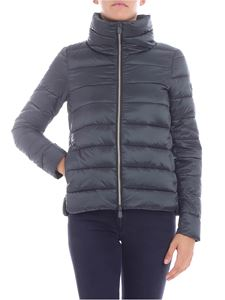 Save the duck - Dark green down jacket with logo