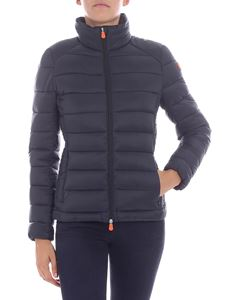 Save the duck - Black down jacket with logo
