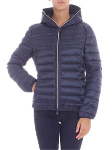 Save the duck - Blue down jacket with zip