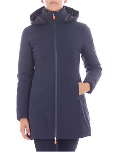 Save the duck - Long blue down jacket