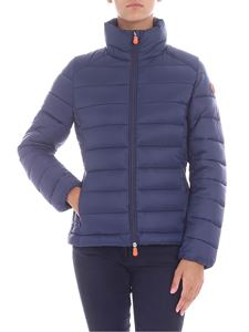 Save the duck - Blue down jacket with logo