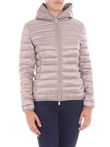 Save the duck - Dove grey down jacket with zip