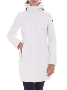 "RRD Roberto Ricci Designs - ""Winter Long"" white hooded down jacket"