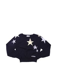 Moschino Kids - Black pullover with star embroideries