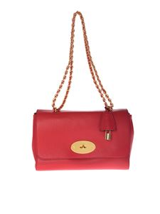"Mulberry - ""Medium Lily"" red shoulder bag"