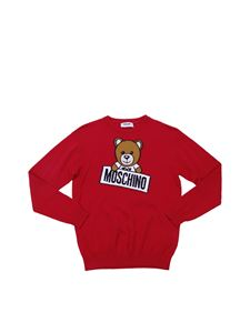"Moschino Kids - ""Teddy"" red pullover"