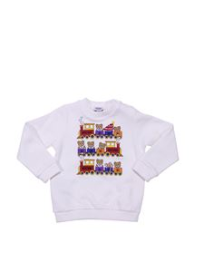 "Moschino Kids - ""Teddy"" white crewneck sweatshirt"