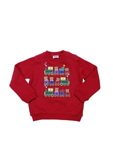 "Moschino Kids - ""Teddy"" red crewneck sweatshirt"