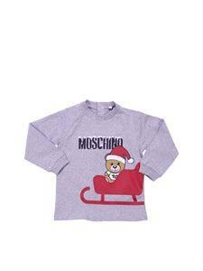 "Moschino Kids - ""Teddy"" grey sweatshirt with logo"