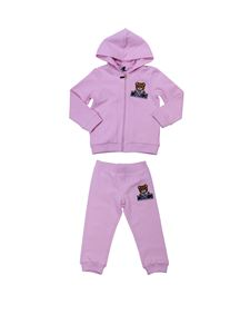 "Moschino Kids - Completo in felpa ""Teddy"" rosa"