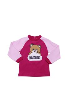 "Moschino Kids - ""Tiger"" fuchsia and pink sweatshirt"