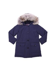 Woolrich - Blue hooded down jacket