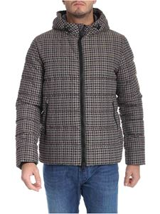 Herno - Brown pied de poule down jacket