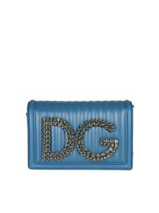 Dolce & Gabbana - Blue shoulder bag with logo